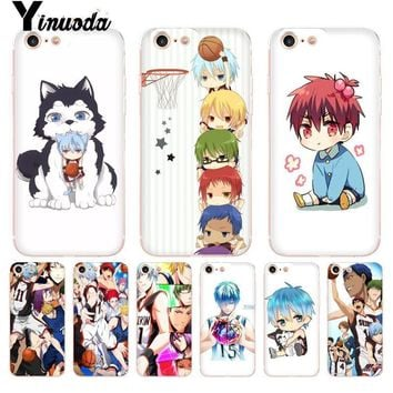Yinuoda Kuroko no Basket kawaii Tetsuya kawaii anime Transparent Phone Case for iPhone 8 7 6 6S Plus X 10 5 5S SE XR XS XSMAX