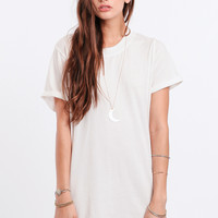 Early Morning T-Shirt Dress In White