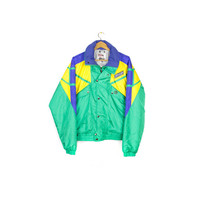 SPYDER ski jacket - vintage 80s / 90s - colorblock - snow - cold weather - mens small - medium