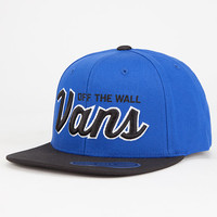 Vans Wilmington Boys Snapback Hat Blue Combo One Size For Women 27541824901