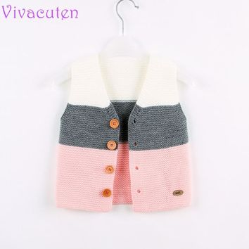 2018 Autumn Knitted Baby Waistcoats Winter Outerwear Newborn Boys Clothing Toddler Kids Sweater Cardigans Children's Vests