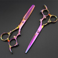 New arrival Professional hairdressing scissors Barber cutting scissors thinning shears for cutting hair 6 inch