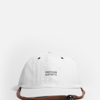 Six Panel Camper Strapback Hat in Off-White