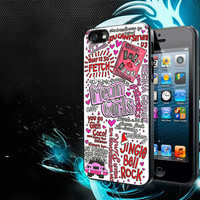 Mean Girls Lyrics iPhone 5, 5s, 5C, 4, 4S , Samsung Galaxy S3, S4, S5 , iPod Touch 4 / S Case