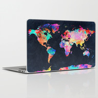 World map Laptop & iPad Skin by Bekim ART