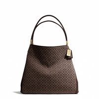 madison small phoebe shoulder bag in op art needlepoint fabric