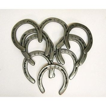 HS5 - 10 Pc Rustic Cast Iron Horseshoes Decorative country primitive craft western #5
