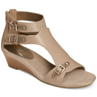 Aerosoles Yet Another T-Strap Wedge Sandals - Sandals - Shoes - Macy's