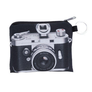 New Women Coin Purses Cute Girl Animal Mini Bag Key Ring Case Zipper Wallet Lovely Camera Cat Face Pouch Change Purse