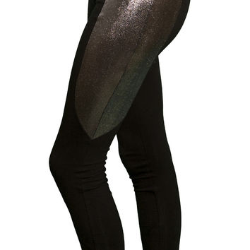 BLACK AND GUNMETAL LEGGINGS