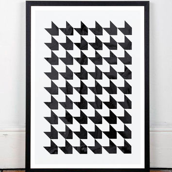 Black and white art, Modern print, Minimalist art print, Nordic design, Wall prints, Wall art, Home decor art, A3 print, Abstract art print