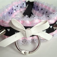 Pink Dolly Spiked Choker