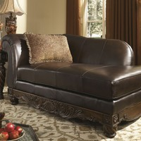 North Shore Dark Brown LAF Corner Chaise from Ashley | FurnitureETC.com | 2260316