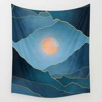 Surreal sunset 03 Wall Tapestry by marcogonzalez