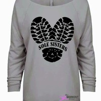 Sole sisters Running Shirt For women, Fitness Slouchy Long Sleeve