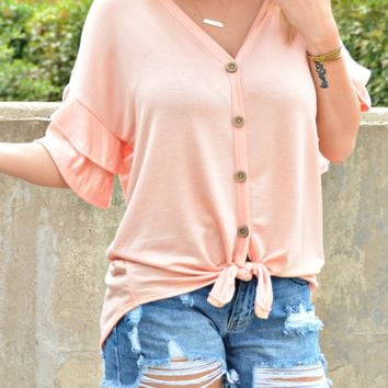 Simply Love Top - Coral