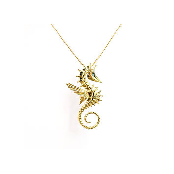 Sea Horse Pendant Necklace - BISJOUX