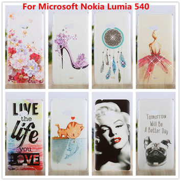 Luxury Crystal Diamond 3D Bling Hard Plastic Cover Case For Microsoft Nokia Lumia 540 Case Cell Phone Cover