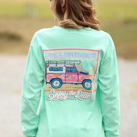 Sassy Frass Comfort Colors Life is an Adventure Range Rover Long Sleeve Bright Girlie T Shirt