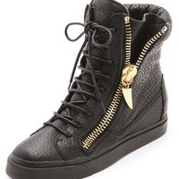 Giuseppe Zanotti London Zip High Sneakers | SHOPBOP