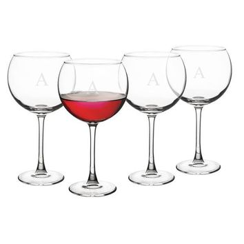 Personalized 19 oz. Red Wine Glasses (Set of 4)