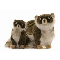 Endeavour Toys - Hansa Plush Racoons - Adult and Young