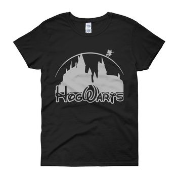Harry Potter Hogwart Disney Castel Women'S T Shirt