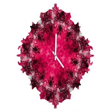 Caleb Troy Electric Pink Whirlpool Baroque Clock