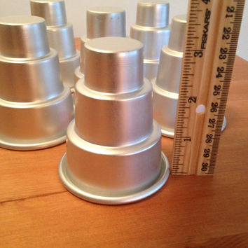 Set of 6 Mini 3-Tier Cake Pan