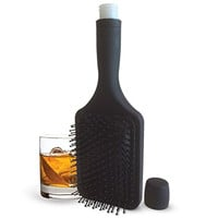 Smuggle Your Booze 6 Oz. Hairbrush Hidden Flask and Funnel