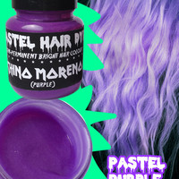 Pastel Purple Hair Dye Vegan Friendly Semi-Permanent 115ml (CHINO MORENO) grunge bleach 90s emo scene kawaii Lithiumm colour color