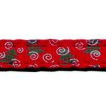 Christmas Trees Nylon And Ribbon Collars . 3-8'' Wide X 4' Leash
