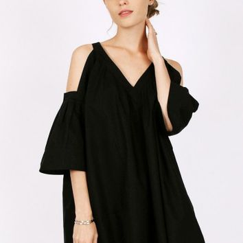 Embrace Change Cold Shoulder Dress