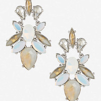 MULTI STONE DROP EARRINGS from EXPRESS