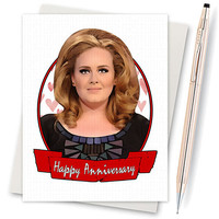 Anniversary Card - Adele Hello - I Love You Card - Funny Anniversary - Funny Card - Boyfriend Card - Funny Love Card - Card For Boyfriend