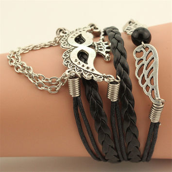 HandMade Telesthesia Leather Woven Bracelet For Halloween Party Mask