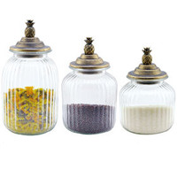 PINEAPPLE CANISTERS S/3