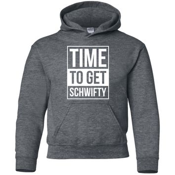 Rick & morty Time To Get Schwifty-01 G185B Gildan Youth Pullover Hoodie