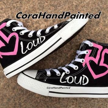 Pink Custom Painted Converse Custom Shoes Custom Shoes Hand Painted Shoes Canvas Shoes