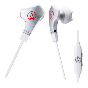Audio-Technica ATH-CHX7iS SonicFuel Hybrid Earbud Headphones (White)