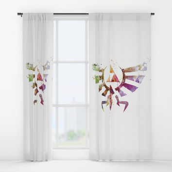 Zelda Window Curtains by monnprint