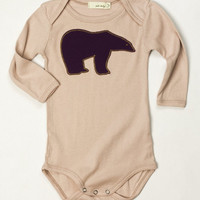 6-12 MTHS Zebi One Piece ROSE POLAR BEAR APPLIQUE