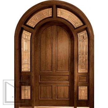 Jeld wen 435 walnut door with wraparound from us door - Jeld wen exterior doors with sidelights ...