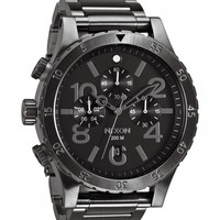 48-20 Gunmetal Chrono Watch by Nixon - ShopKitson.com