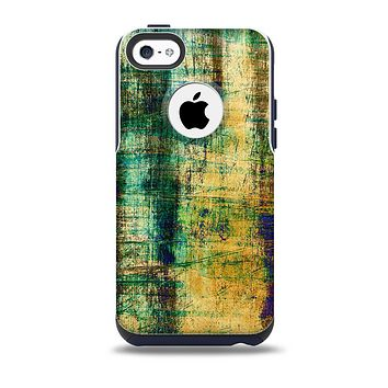 The Grungy Scratched Surface V3 Skin for the iPhone 5c OtterBox Commuter Case