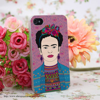 Frida Kahlo Hard Transparent Cover Case for iphone 4 4s 5 5s 6 6s Plus 7 7 Plus