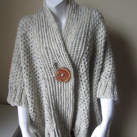 SWEATER, Plus size, oversize Cardigan, poncho, Shawl collar, Kimono, sleeves,cardigan, bohemian