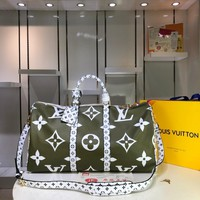 Kuyou Lv Louis Vuitton Gb29624 M44590 Keepall Bandouliere 50 Soft Travel Bag