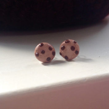 Yummy cookie polymer clay stud earrings
