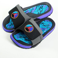Air Jordan Hydro 8 VIII Slip On Sandal Black Aqua
